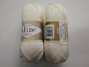 Пряжа Дива (Diva) ALIZE цвет 62 молочный