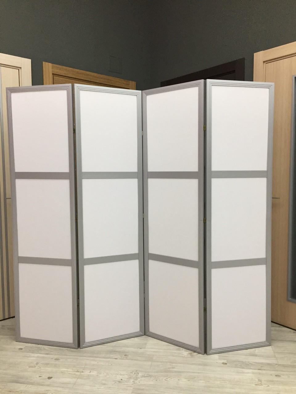 Ширма-перегородка МДФ + ткань 4 секции, 1800мм*1920мм.