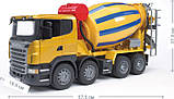 Bruder Игрушка машинка бетоновоз SCANIA R-series жёлтый, 03554, фото 2