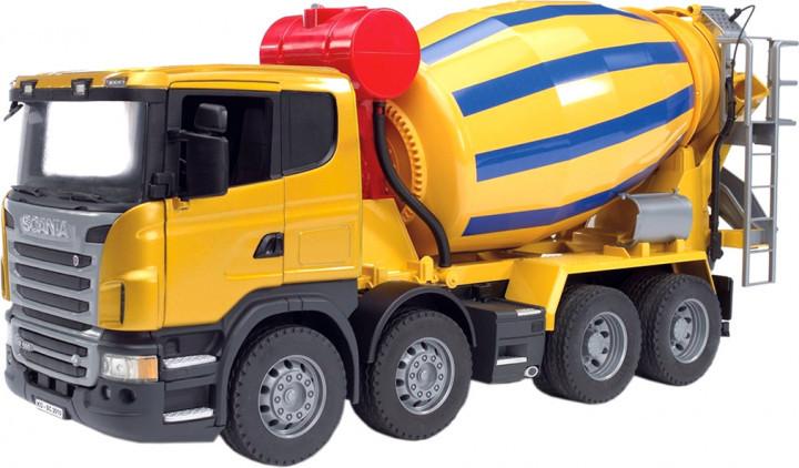Bruder Игрушка машинка бетоновоз SCANIA R-series жёлтый, 03554