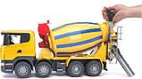 Bruder Игрушка машинка бетоновоз SCANIA R-series жёлтый, 03554, фото 4