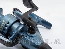 Катушка для рыбалки Кобра Shark 4000 CB140 1 подшипник (Синяя), фото 3