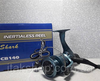 Катушка для рыбалки Кобра Shark 4000 CB140 1 подшипник (Синяя)
