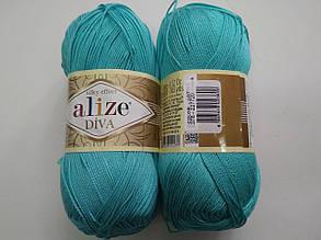 Пряжа Дива (Diva) ALIZE цвет 376 бирюзовый