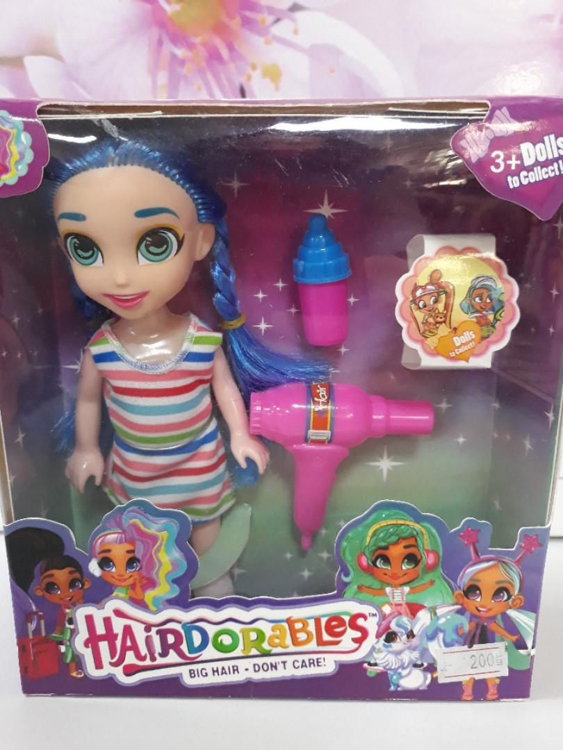 Кукла HAIRDORABLES с голубыми волосами