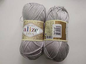 Пряжа Дива (Diva) ALIZE цвет 168 серый