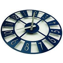 Часы на стену 35 см Glozis Boston (синие)