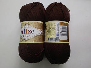 Пряжа Дива (Diva) ALIZE цвет 26 коричневый