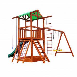 Дитячий ігровий комплекс SportBaby Babyland-3 дерев'яний майданчик-будиночок з гіркою