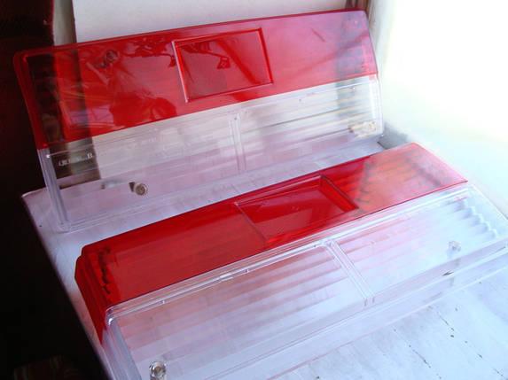 Стекло фонаря ВАЗ 2107 ТЮНИНГ! 2шт (стекло красно - белое) (пр-во Россия), фото 2