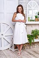 Модная летняя юбка миди на пуговицах белая