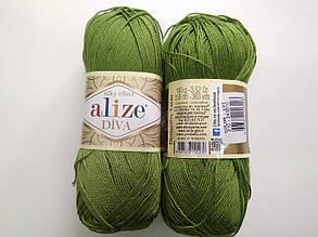 Пряжа Дива (Diva) ALIZE цвет 210 зеленый