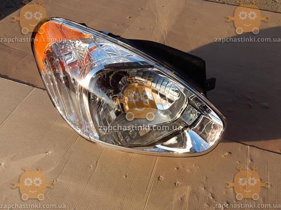 Фара правая Hyundai ACCENT, M37 (2006-10г) (пр-во EuroEx Венгрия) ЕЕ 97848, фото 2