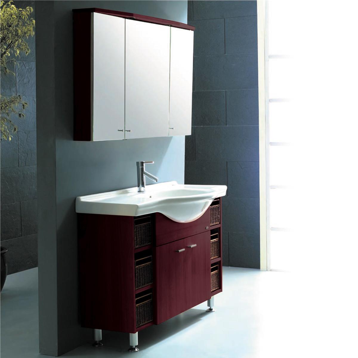 GSP04, CRW, комплект мебели для ванной, бордовый