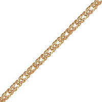 Женская цепочка ЦП107и, Красное золото, Размер 45