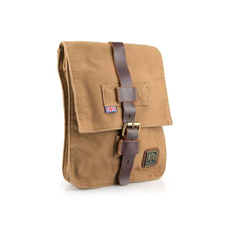 Чоловіча брезентова сумка-планшет мілітарі через плече Akarmy