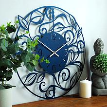 Часы большие настенные 50 см Glozis Caprice B-017 (синие)