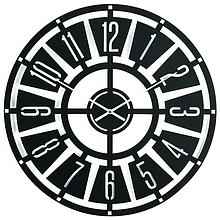 Часы большие настенные 50 см Glozis Chicago B-029 (черные)