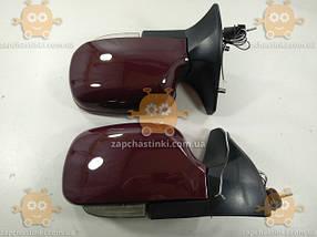 Зеркала ВАЗ 2108 - 21099, 2113 - 2115 ТЮНИНГ (2шт) бардовые с поворотами (пр-во KING Польша), фото 3