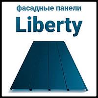 """Фасадные панели • """"Либерти"""" • 0,5 мм • RAL-7024 • Польша •"""