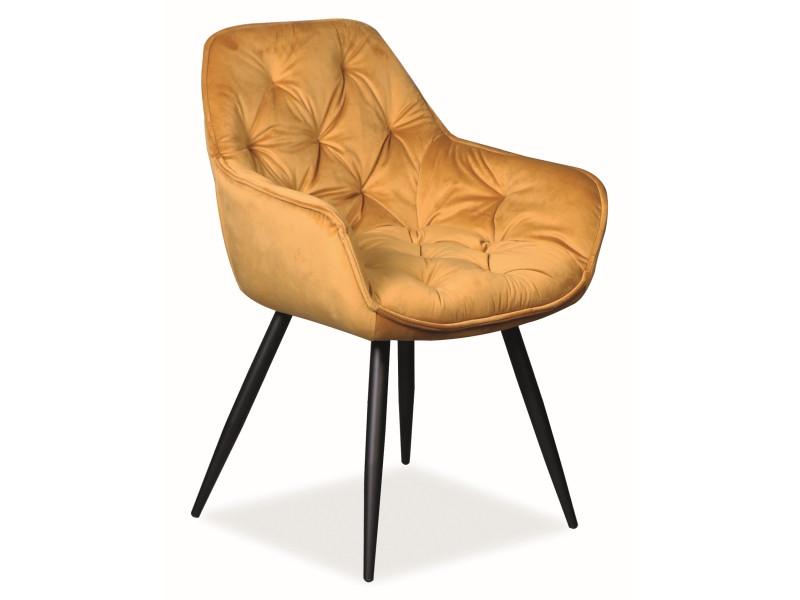 Кресло CHERRY VELVET желтый (Signal)