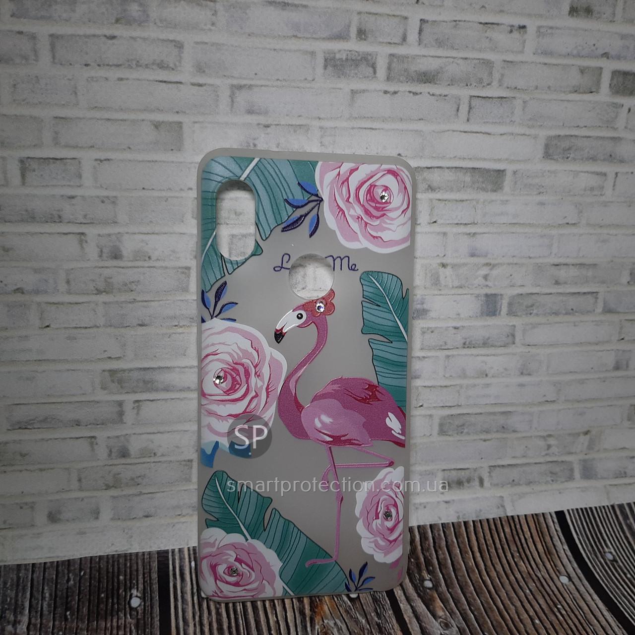Накладка силиконовая для Xiaomi Redmi Note 5 Pro фламинго