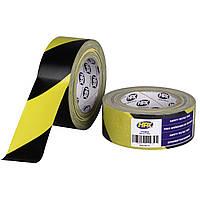 Армированная клейкая лента для маркировки HPX 62300, жёлто-черная - 48мм х 25 м