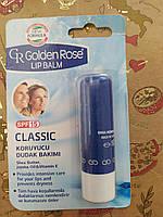 Помада гигиеническая бальзам для губ Golden Rose Classic spf 15 / Голден Роуз