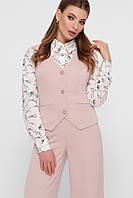 Строгий женский жилет стильный розового цвета