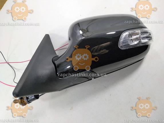 Зеркало Волга 3110 - 31105 левое (черное) с поворотом (механика) (пр-во Россия), фото 2