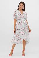 Красивое женское летнее платье шифоновое с принтом