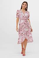 Нежное платье розового цвета с цветами