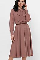 Легкое платье цвета капучино