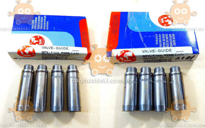 Втулка клапана направляющая ВАЗ 2101 - 2107, 2121 (8шт впуск+впуск) (пр-во SM Германия), фото 2