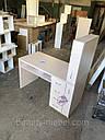 Маникюрный стол с мощной вытяжкой, полкой для лаков и ящиком карго., фото 6
