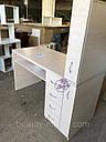 Маникюрный стол с мощной вытяжкой, полкой для лаков и ящиком карго., фото 7