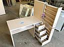 Маникюрный стол с мощной вытяжкой, полкой для лаков и ящиком карго., фото 2