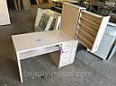 Маникюрный стол с мощной вытяжкой, полкой для лаков и ящиком карго., фото 4