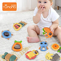 Набор Детских погремушек, игрушка-прорезыватель Tumama Kids 10 шт