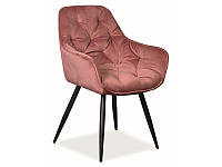 Кресло CHERRY VELVET розовый (Signal)