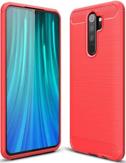 Чехол накладка Polished Carbon для Xiaomi Redmi Note 8 Pro Красный
