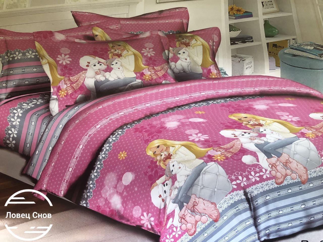 Постелька 110/150 в кроватку, Барби