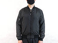 Ветровка на сетке,бомбер черный тонкий,куртка-бомбер на сеточке р-р46-48