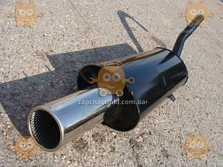 Глушитель ВАЗ 2101 - 2107 ПРЯМОТОК диаметр выхода 100мм! (материал сталь! Наконечник сталь покрыта хромом)