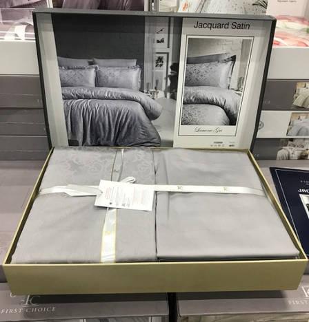 Комплект постельного белья First Choice Ranforce Deluxe евро Gala gri, фото 2