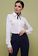 Женская женская белая блуза классического кроя