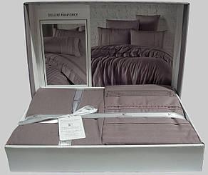 Комплект постельного белья First Choice Ranforce Deluxe евро Gala leylak, фото 2