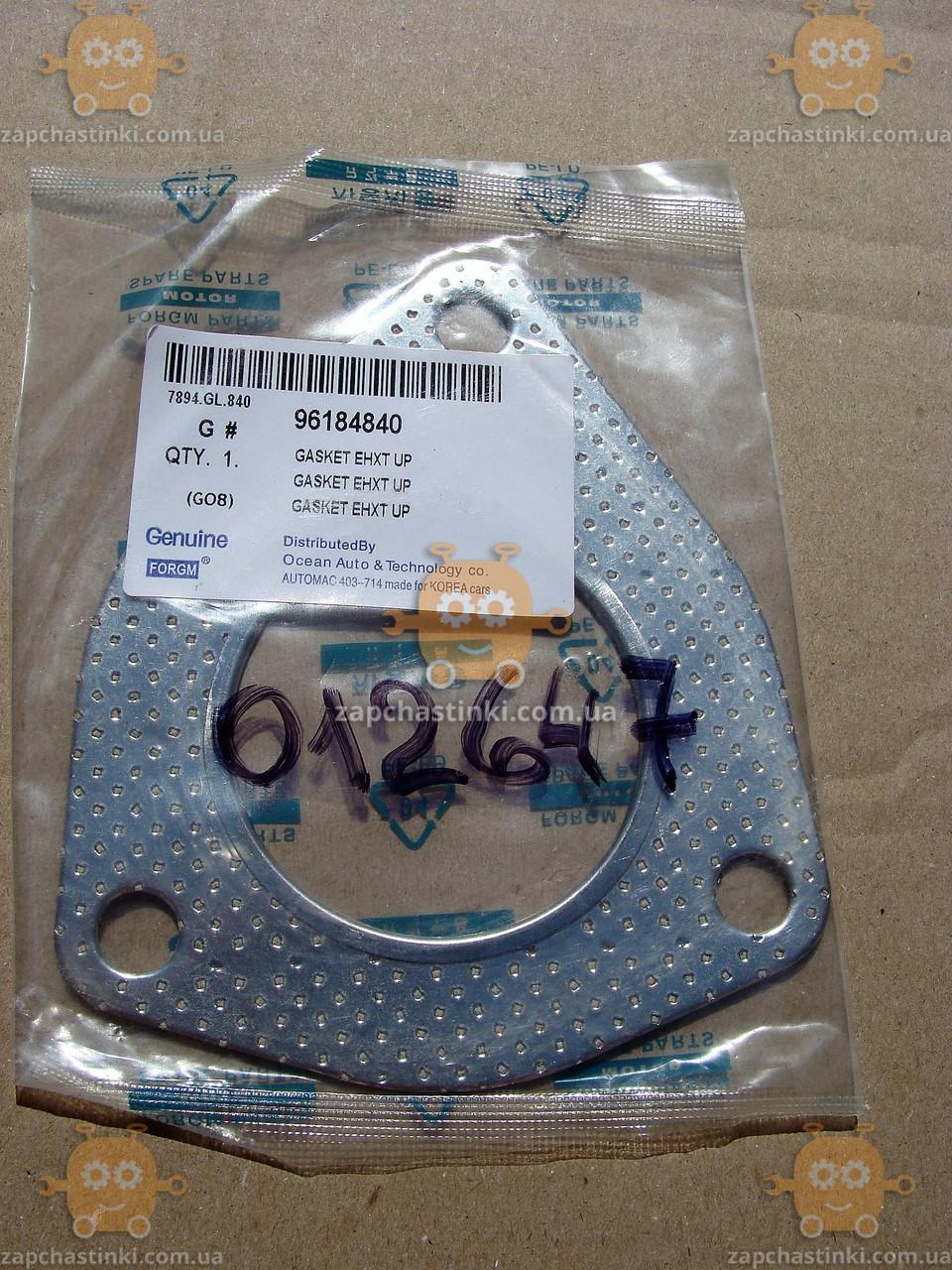 Прокладка приемной трубы Daewoo LANOS отверстие ф63мм (3 болта) (пр-во Genuine Корея) ЕЕ 12647