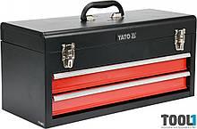 Ящик для инструментов металлический с двумя шуфлядами 218 х 255 х 520 мм Yato YT-08872