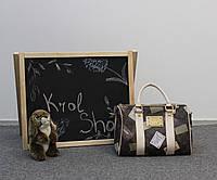 Сумочка женская светло-коричневая Louis Vuitton 31х24х16 кожзам